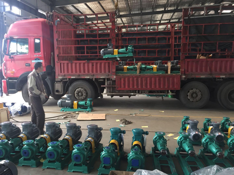 山东某化工科技有限公司55台衬氟离心泵顺利发货