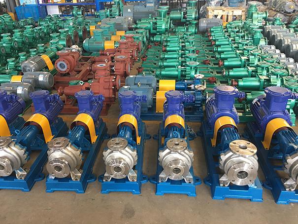 腾龙一批HJ65-50-160不锈钢碱液泵发往南宁化工