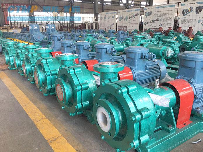 腾龙一批衬氟砂浆泵发往紫金矿业