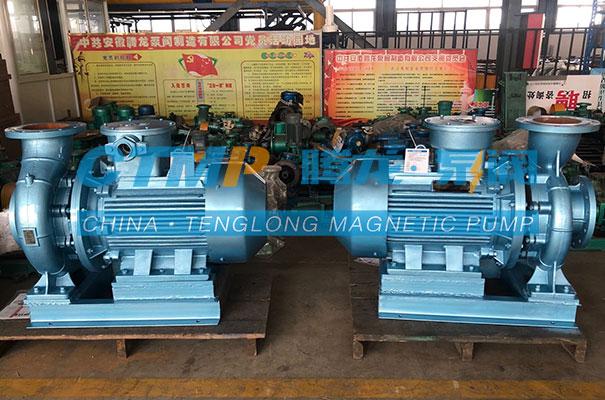 腾龙ISW卧式管道泵发往东方化工