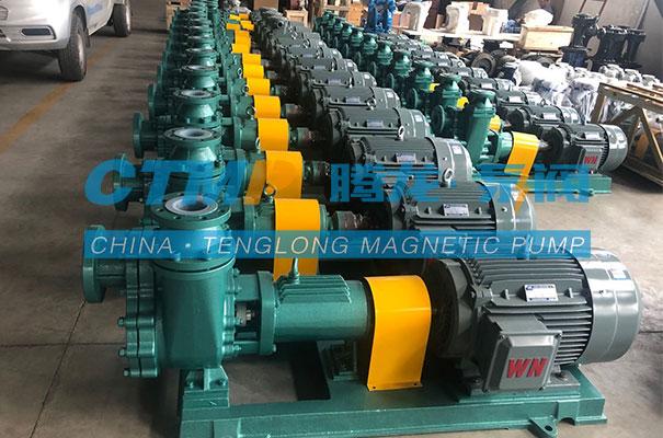 腾龙一批氟塑料自吸离心泵发往广州同宇新材料