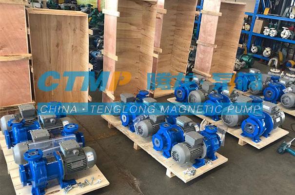腾龙一批定制款项目用氟塑料磁力泵发货