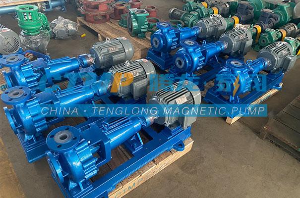腾龙一批IHF氟塑料离心泵发往广州皆盈机电