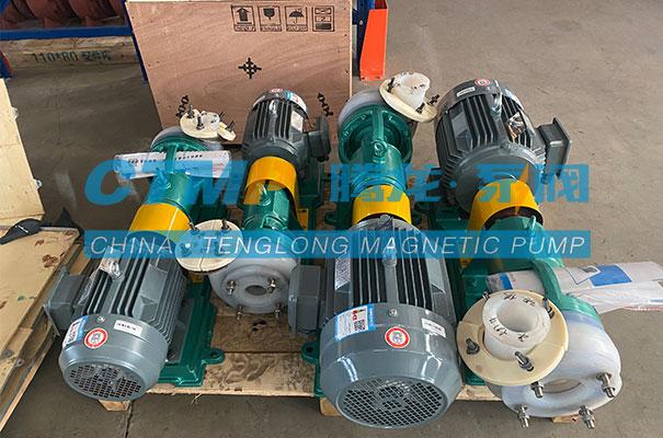 腾龙一批FSB氟塑料离心泵发往浙江马德宝真空设备