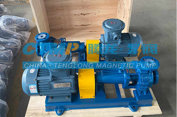 腾龙一批IHF氟塑料离心泵发往南京赛特环境