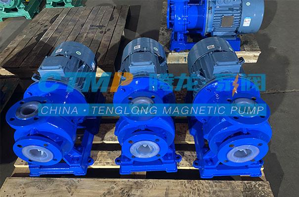 腾龙一批TMF氟塑料磁力泵发往湖南衡山新金龙