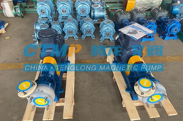 腾龙一批FSB氟塑料离心泵发往内蒙古新阳科技