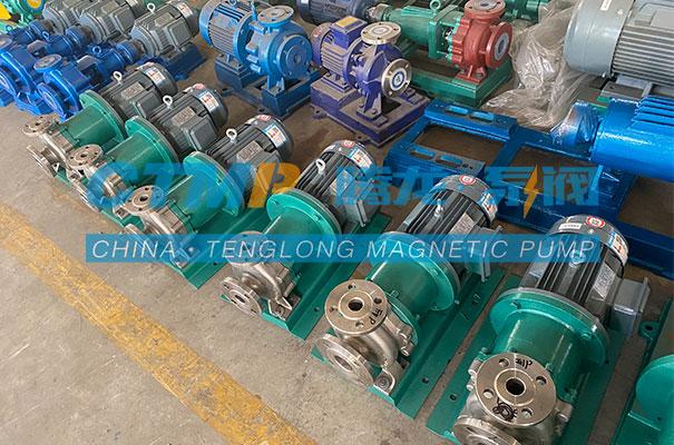 腾龙一批TMC不锈钢磁力泵发往辽宁东旺化学