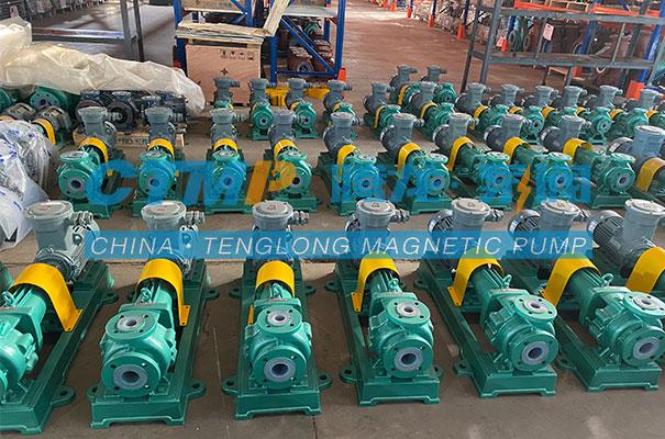 腾龙一批IHF氟塑料离心泵发往江苏万硕环保
