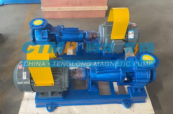 腾龙一批IHF氟塑料离心泵发往青岛元鼎环保工程