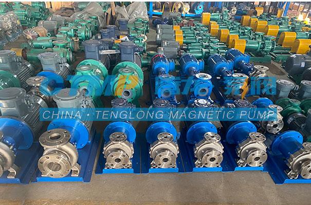 腾龙一批TMC不锈钢磁力泵发往浙江科达环保