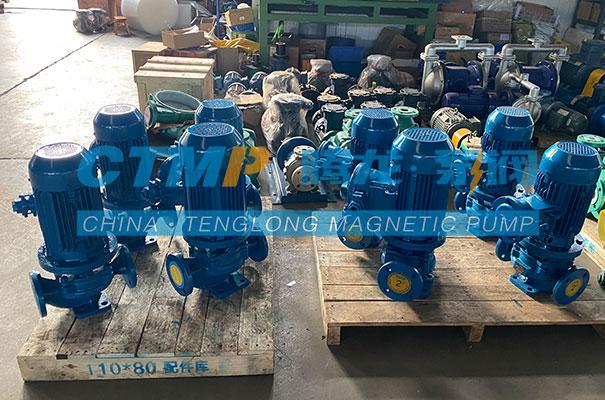 腾龙一批ISG立式管道泵发往内蒙古蒙广煜机电设备