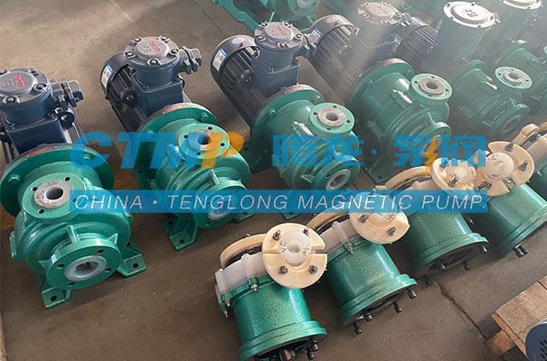 腾龙一批IMD-F重型氟塑料磁力泵发往芜湖丽德新材料