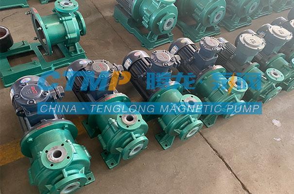 腾龙一批IMD氟塑料磁力泵发往山东百川同创能源