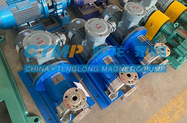 腾龙一批TMC-P不锈钢磁力泵发往青岛欧嘉迪环保科技