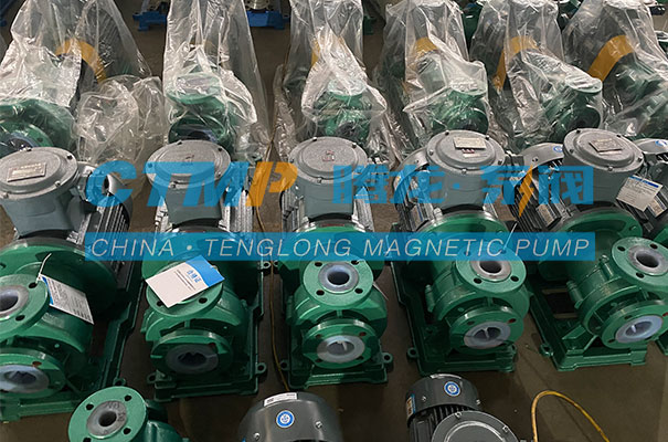 腾龙一批TMF氟塑料磁力泵发往北京碳中能源科技