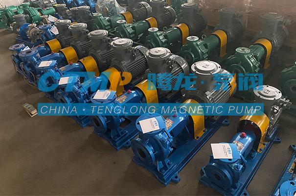 腾龙一批IHF氟塑料离心泵发往台州德宏塑业