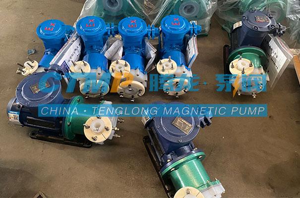 腾龙一批CQB-F氟塑料磁力泵发往深圳艾泰克环境科技
