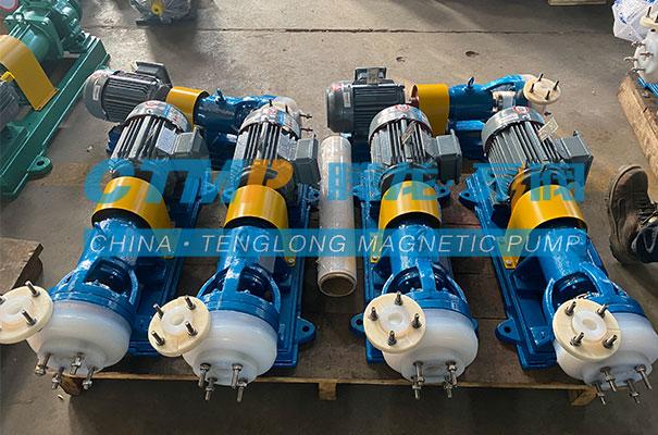 腾龙一批FSB氟塑料离心泵发往吉林海普科技