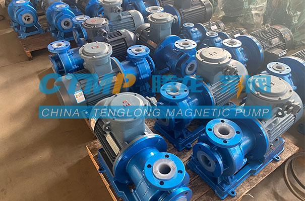 腾龙一批TMF氟塑料磁力泵发往厦门德智鹏工贸