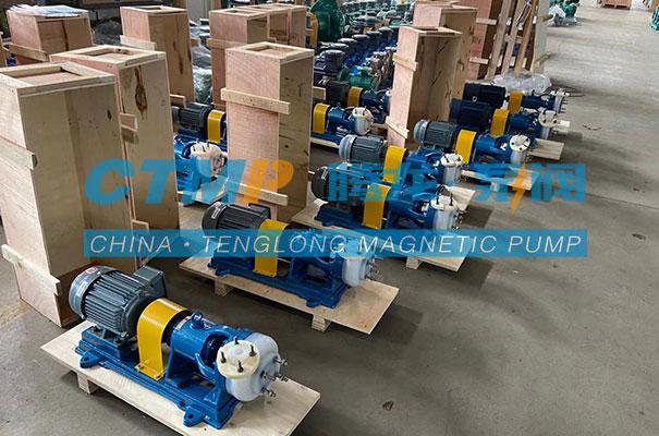 腾龙一批FSB-L氟合金离心泵发往江苏晨丰机电