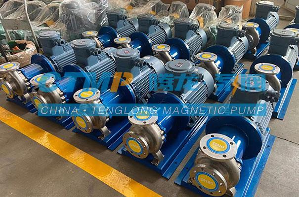 腾龙一批TMC-P不锈钢磁力泵发往中化环境科技
