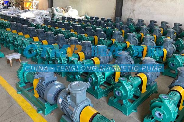 腾龙一批项目用IHF氟塑料离心泵发往安徽淮北