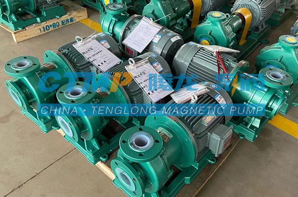 腾龙TMF氟塑料磁力泵发往重庆中特电气