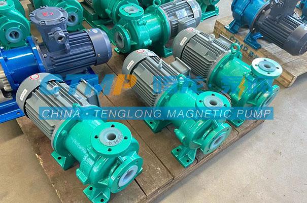腾龙IMD-F衬氟磁力泵发往上海波普环保科技