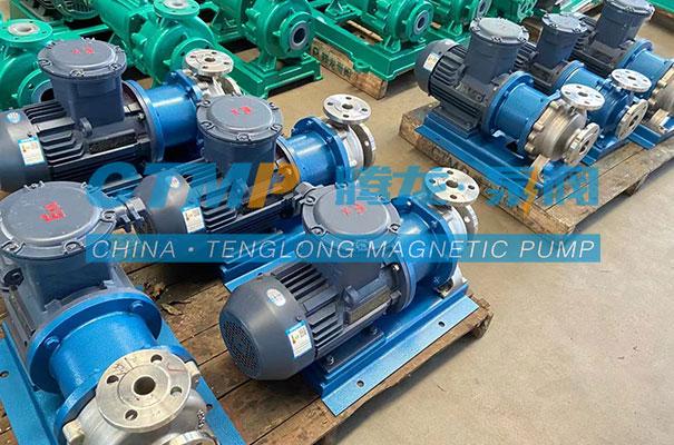 腾龙一批TMC-P不锈钢磁力泵发往湖北清辉环保