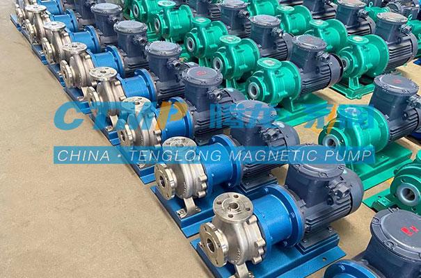 腾龙TMC-P不锈钢磁力泵发往天元化工科技