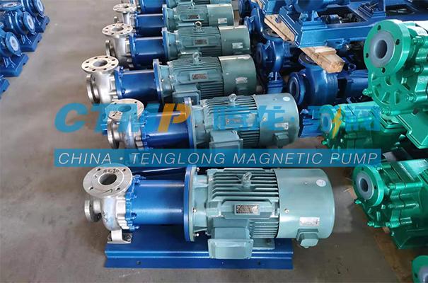一批腾龙TMC-P不锈钢磁力泵发往大连益泰科技