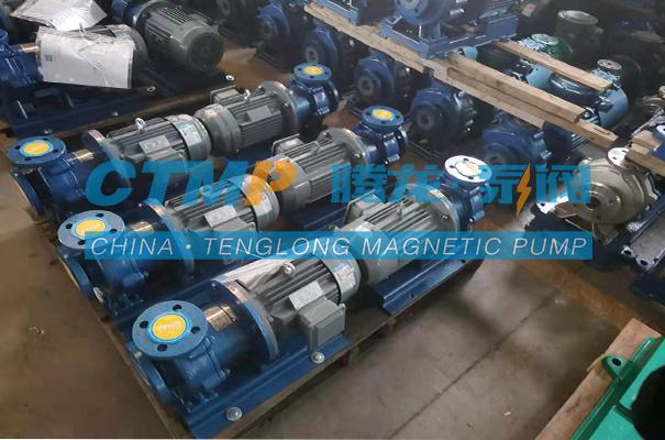 腾龙TMF-N氟塑料磁力泵发往陕西万丰能源环保科技