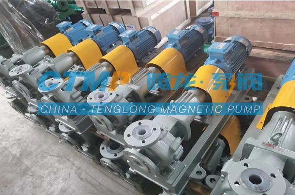 腾龙一批IHF-L氟塑料离心泵发往武汉博睿阳科技