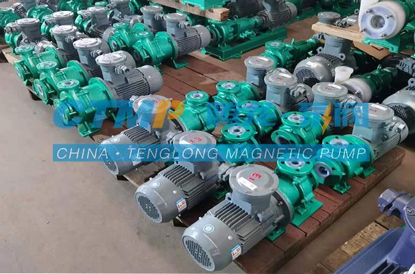 腾龙TMF-N氟塑料磁力泵发往广州佳丰环保科技