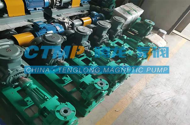 腾龙一批IHF-L氟塑料离心泵发往沾化鹏辉化工