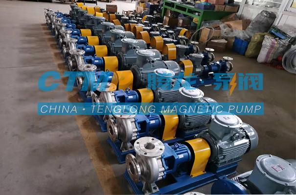 腾龙一批IH不锈钢离心泵发往台州弈柯莱药业