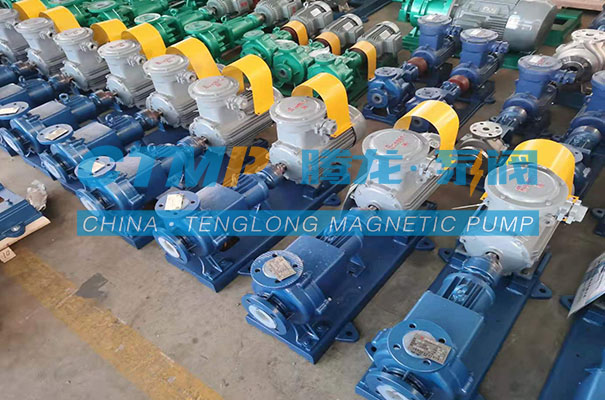 腾龙CQB-FA衬氟磁力泵发往河南海天环境科技