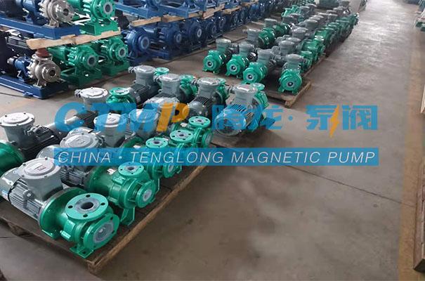 腾龙一批IMD-F氟塑料磁力泵发往江苏新润化工